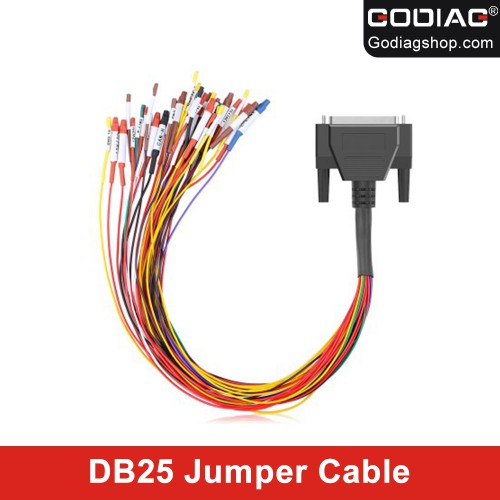 [Hot Selling] Colorful Jumper Cable DB25 for GODIAG GT100